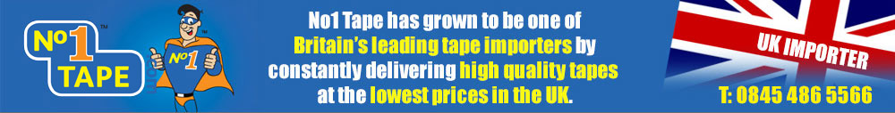 No1 Tape has grown to be one of Britains leading tape importers by constantly delivering high quality tapes at the lowest prices in the UK.